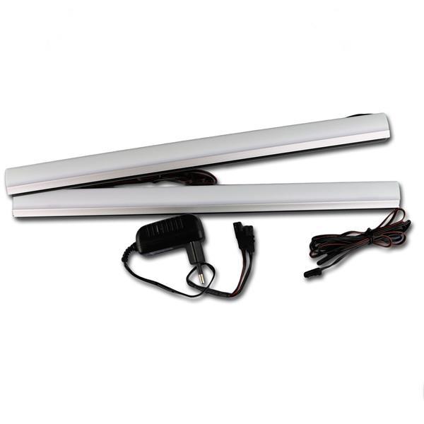 led glaskantenbeleuchtung 2 3 4 6er glasbodenbeleuchtung vitrienenbeleuchtung ebay. Black Bedroom Furniture Sets. Home Design Ideas