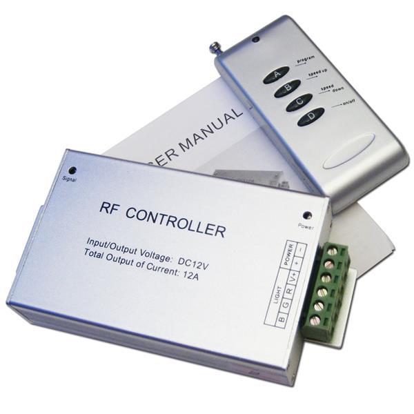 Rgb led controller 3 kanal 4a kanal fernbedienung im led for Koch 4 kanal led funkfernsteuerung