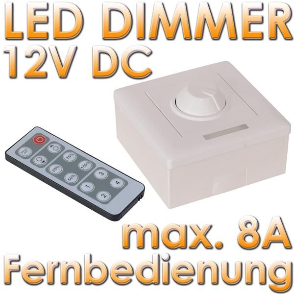 led pwm aufputz dimmer mit ir fernbedienung im led onlineshop. Black Bedroom Furniture Sets. Home Design Ideas
