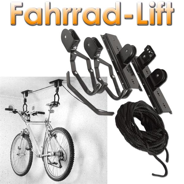 fahrrad aufh ngung mit lift fahrradhalterung im led onlineshop. Black Bedroom Furniture Sets. Home Design Ideas