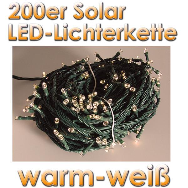 solar led au en lichterkette 200 leds warm wei im led. Black Bedroom Furniture Sets. Home Design Ideas