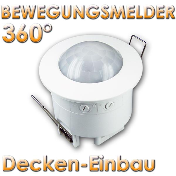 decken einbau bewegungsmelder 360 max 1200w im led onlineshop. Black Bedroom Furniture Sets. Home Design Ideas