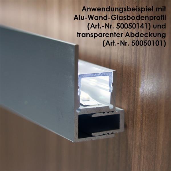 1m aluminium profil blende f led stripes eloxiert im led. Black Bedroom Furniture Sets. Home Design Ideas