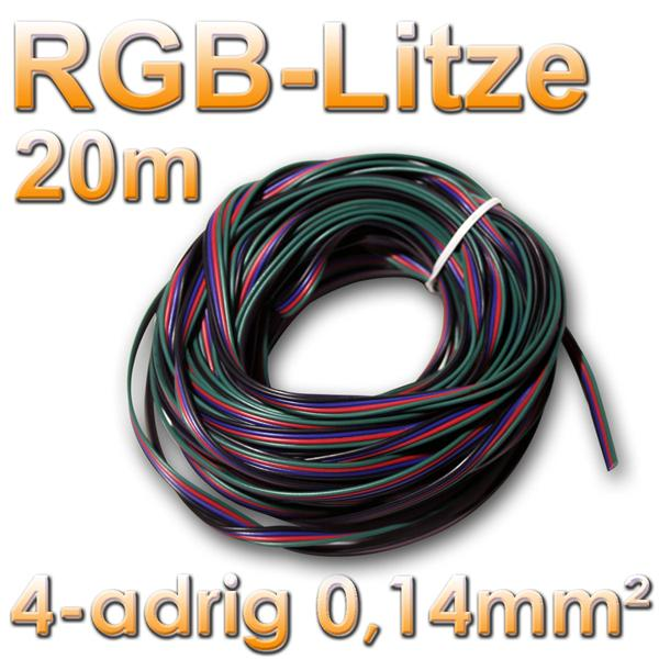 20m ring litze 4 adrig f r rgb led 0 14mm kabel im led onlineshop. Black Bedroom Furniture Sets. Home Design Ideas