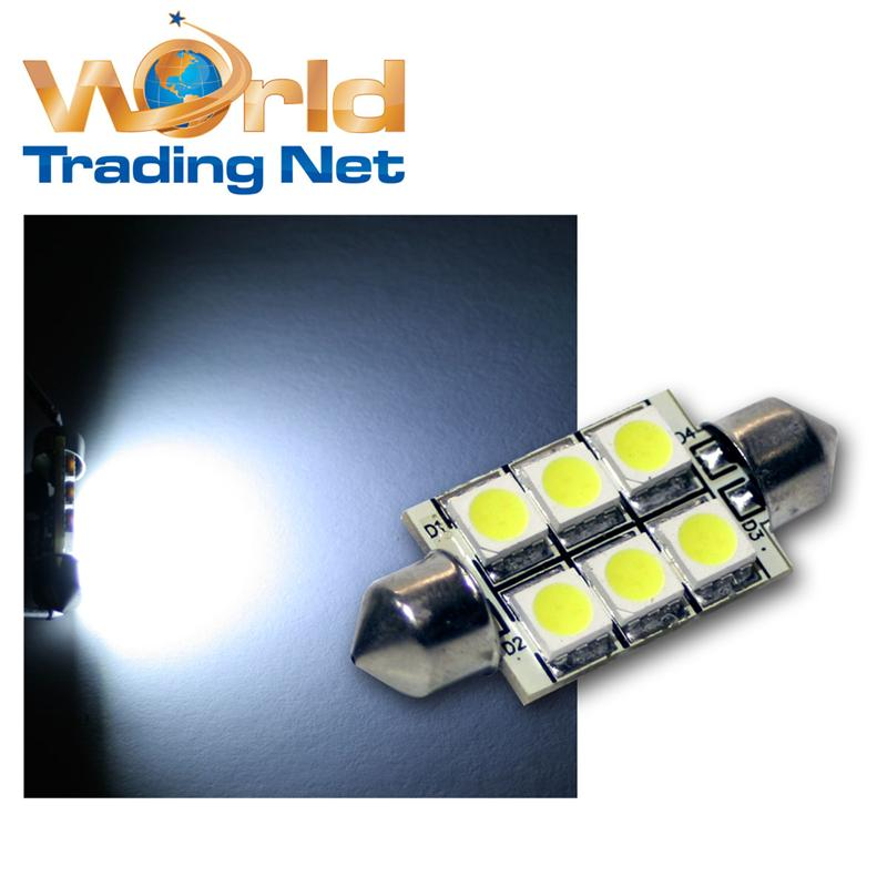 2x-Soffitte-Can-Bus-6-SMD-LED-Canbus-Sofitte-Xenon-c5w