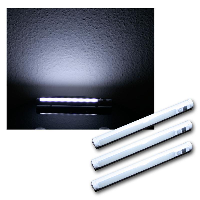 3er set led unterbauleuchte mi bewegungsmelder lichtleiste kaltwei leiste pir ebay. Black Bedroom Furniture Sets. Home Design Ideas