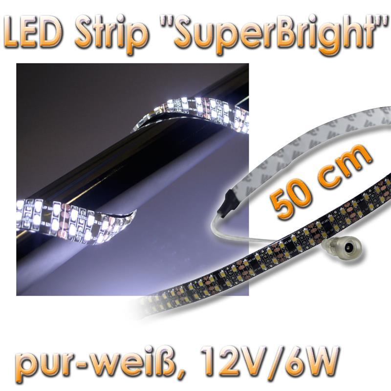 42 38 m 0 5m smd led leuchtband wei leuchtstreifen ebay. Black Bedroom Furniture Sets. Home Design Ideas