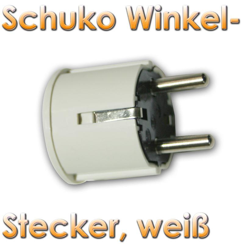 schukostecker winkel schuko stecker schutzkontakt 230v ebay. Black Bedroom Furniture Sets. Home Design Ideas