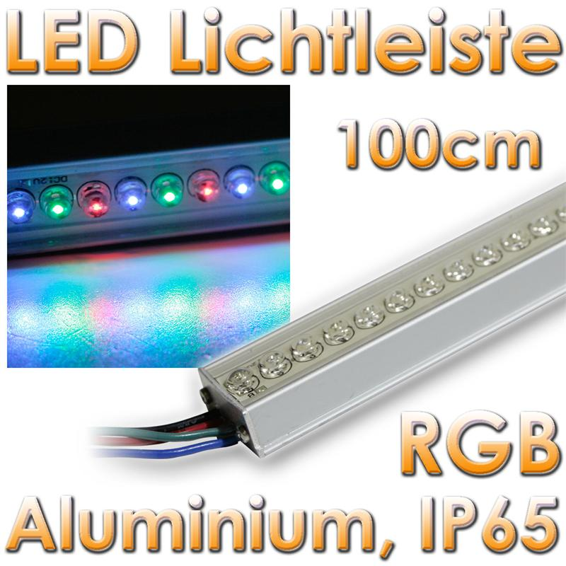 rgb led lichtleiste 1m leds 12v leiste dmx multicolor ebay. Black Bedroom Furniture Sets. Home Design Ideas