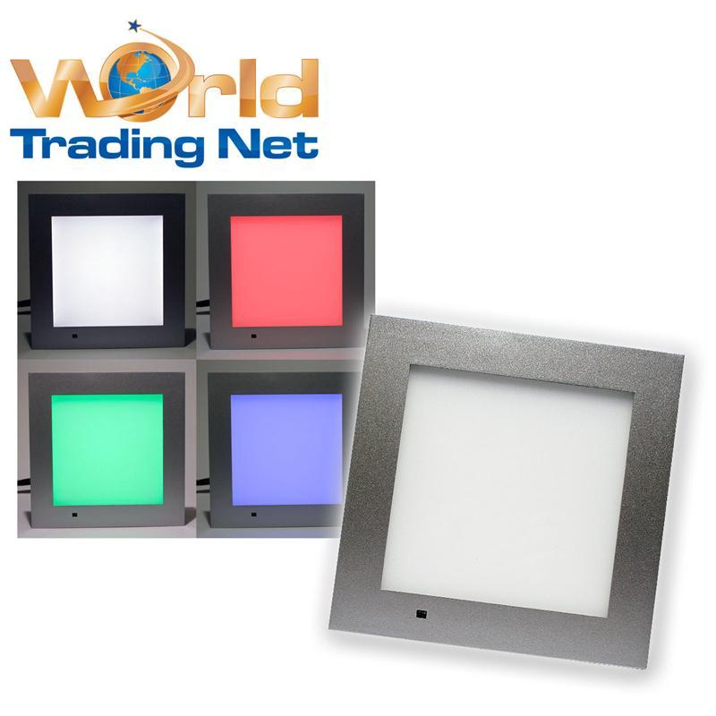 led panel eckig 20x20cm rgb multicolor fernbedienung pannel lichtpanel paneel ebay. Black Bedroom Furniture Sets. Home Design Ideas