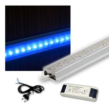 set 4x 100cm led lichtleiste mit trafo zubeh k chenbeleuchtung leds blau ebay. Black Bedroom Furniture Sets. Home Design Ideas