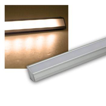 alu led eck lichtleiste warmwei 50cm unterbauleuchte leiste stripe leuchte 12v ebay. Black Bedroom Furniture Sets. Home Design Ideas