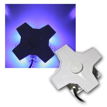 led deko wandleuchte stern 4x1w leds blau 230v wandlampe wall lamp blue lampe ebay. Black Bedroom Furniture Sets. Home Design Ideas