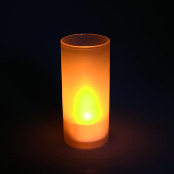 led kerze im wind glas candle teelicht mit leds deko ebay. Black Bedroom Furniture Sets. Home Design Ideas