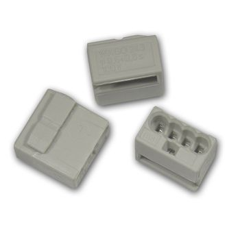 20 st ck wago micro steckklemmen 4x 0 6 0 8 mm grau verbindungsklemme klemme ebay. Black Bedroom Furniture Sets. Home Design Ideas