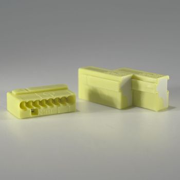 10er set wago micro steckklemmen 8x 0 6 0 8 mm gelb dosenklemmen klemme ebay. Black Bedroom Furniture Sets. Home Design Ideas