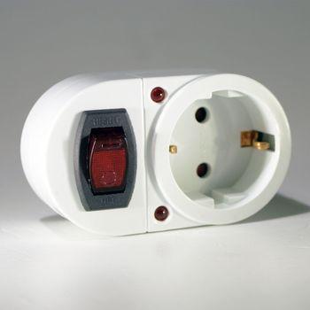 steckdosen schalter mit berspannungsschutz steckdose ein. Black Bedroom Furniture Sets. Home Design Ideas