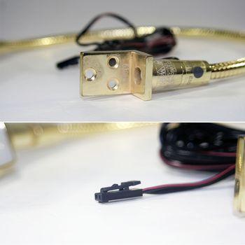 led leselampe 12v messing gold optik flexarm leseleuchte. Black Bedroom Furniture Sets. Home Design Ideas