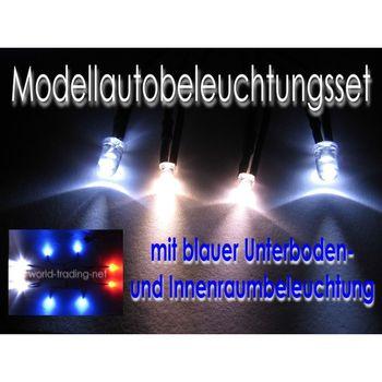 led modellauto beleuchtung 37 teilig xenon tuning kit bausatz ebay. Black Bedroom Furniture Sets. Home Design Ideas