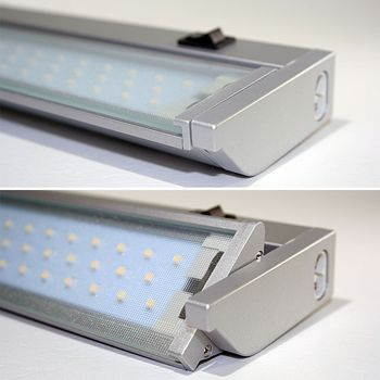 Neu LED Unterbauleuchte 35cm 60 LEDs 326lm, Küchenleuchte 230V Küche  CB68