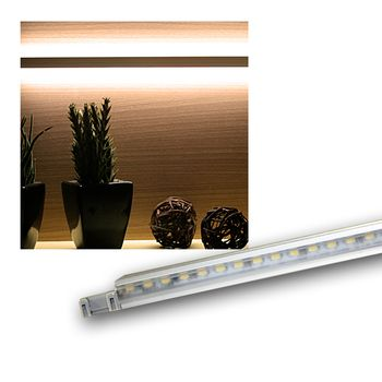 led schrank hintergrundbeleuchtung alu 12v warmwei m belbeleuchtung leiste ebay. Black Bedroom Furniture Sets. Home Design Ideas