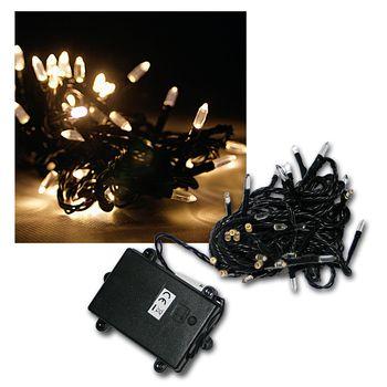 Led catena luci a batteria 48 led bianco caldo funziona a - Luci a batteria per esterni ...
