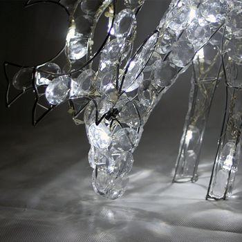 led rentier elch wei grasend au en weihnachtsbeleuchtung weihnachten reh figur ebay. Black Bedroom Furniture Sets. Home Design Ideas