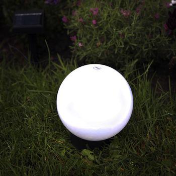 solar led kugelleuchte 15cm garten lampe kugellampe au en leuchte kugel leds ebay. Black Bedroom Furniture Sets. Home Design Ideas