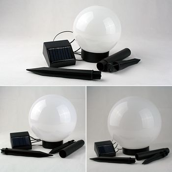 3er set solar led kugelleuchte garten lampe kugellampe au en leuchte kugel ebay. Black Bedroom Furniture Sets. Home Design Ideas