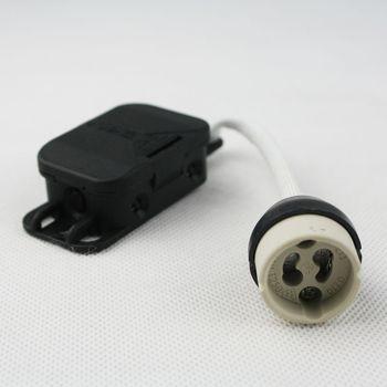 hochvolt lampenfassung gz gu10 mit anschlu box zugentlastung fassung 230v ebay. Black Bedroom Furniture Sets. Home Design Ideas