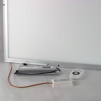 led panel 60x60cm lichtfarbe wechselbar dimmbar mit fernbedienung aufbauleuchte ebay. Black Bedroom Furniture Sets. Home Design Ideas