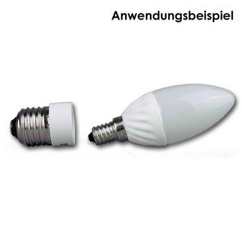 lampensockel adapter e27 zu e14 leuchtmitteladapter adaptersockel led konverter ebay. Black Bedroom Furniture Sets. Home Design Ideas