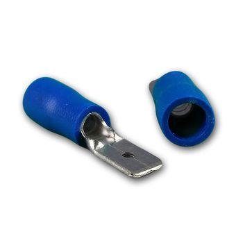 50 kabelschuhe blau stecker oder buchse f r kabel 1 5 2. Black Bedroom Furniture Sets. Home Design Ideas