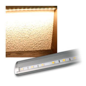 lichtleiste led unterbauleuchte 230v touch schalter alu geb rstet k chenlampe. Black Bedroom Furniture Sets. Home Design Ideas