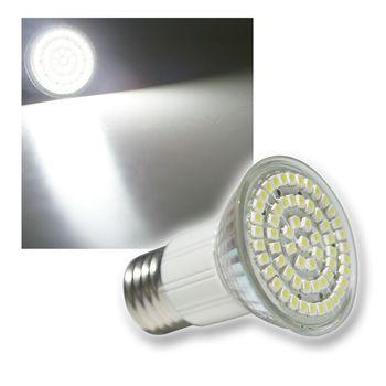 e27 led strahler leuchtmittel 60x power smd leds weiss e 27 lampe birne spot. Black Bedroom Furniture Sets. Home Design Ideas