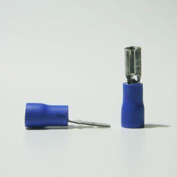 20 paar kabelschuhe stecker buchse blau 2 8 x 0 5mm f r 1 5 2 5mm kabelschuh ebay. Black Bedroom Furniture Sets. Home Design Ideas