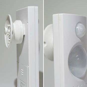 led eingangsleuchte mit ir bewegungsmelder mit batterien lampe leuchte mit leds ebay. Black Bedroom Furniture Sets. Home Design Ideas