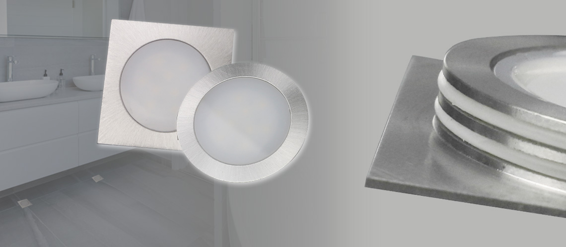 super-flat LED recessed floor light resistant and walkable