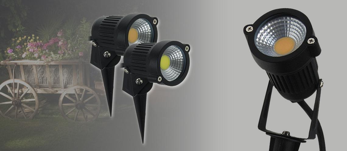 leistungsstarker LED Gartenspot für den Außenbereich