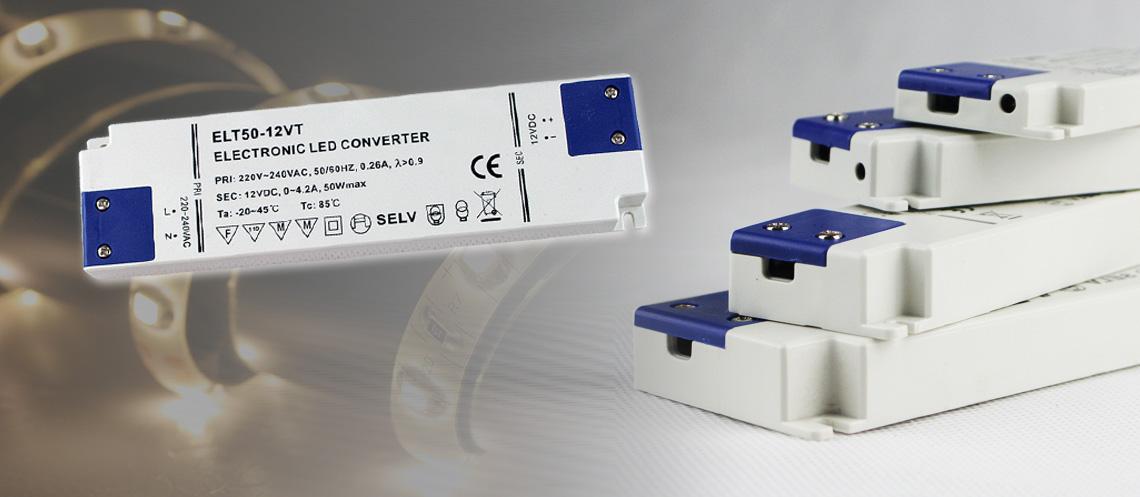Stromversorgung für 12V LED Streifen in extra flacher Bauweise