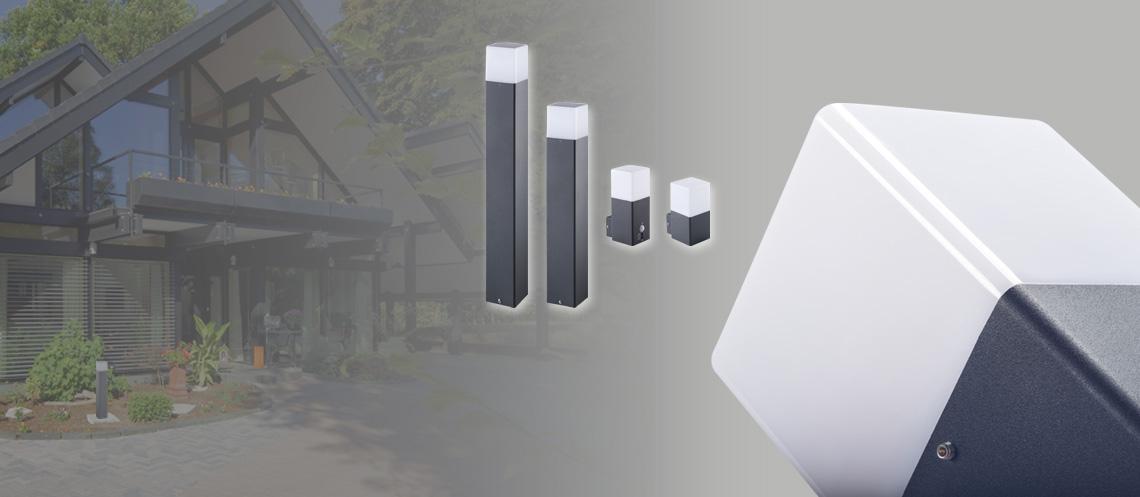 LED Außenleuchten VADRA - Wand- und Standleuchten im modernen hochwertigen Design