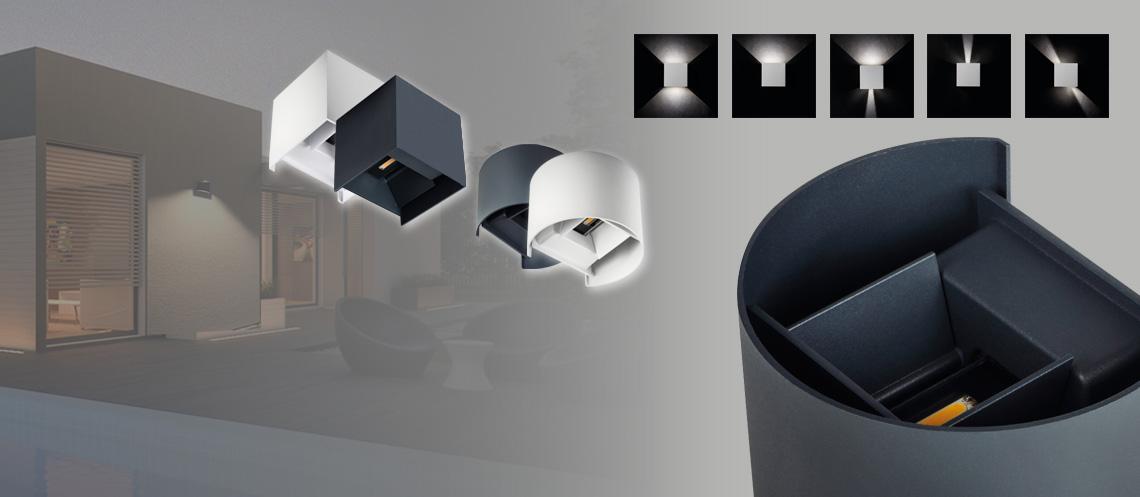 LED Außen-Wandleuchten REKA - einzigartige Lichteffekte für die Hauswand