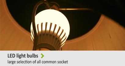 ED light bulbs - large slection of all common socket
