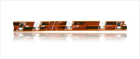 SMD strip 60x 3528 SMD LED's on brown board