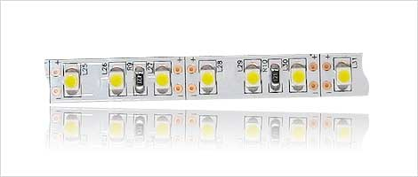 SMD strip 120x 3528 SMD LED's on white board
