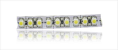 SMD strip 180x 3528 SMD LED's on white board