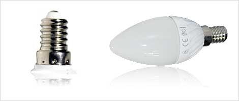 Light bulb with E14 socket