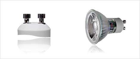 Light bulb with GU10 socket