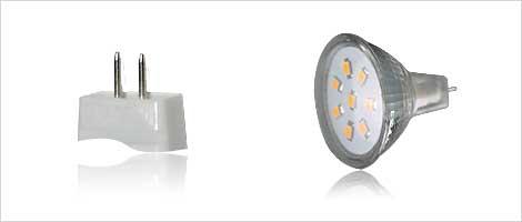 Light bulb with MR11 socket
