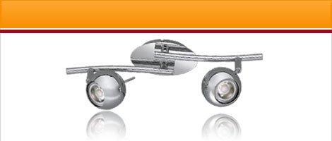 "LED lights series ""CP"" chrome with 5W COB LED"